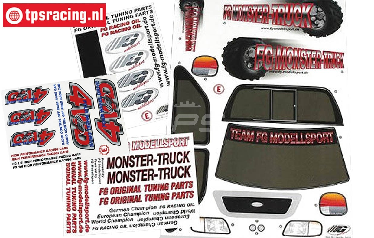 Fg 4wd Truck Decals Rc Car Specialist Tps Racing