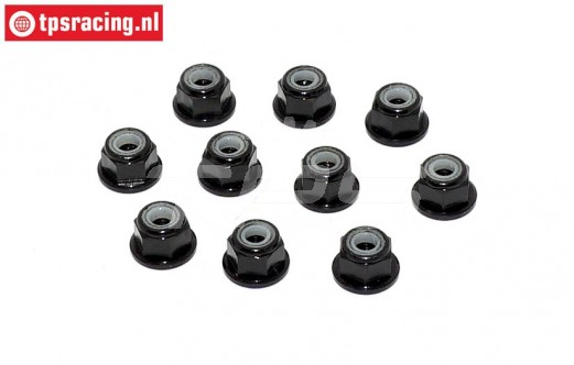 TPS1223/02 Aluminum lock nut M3 Black, 10 pcs.