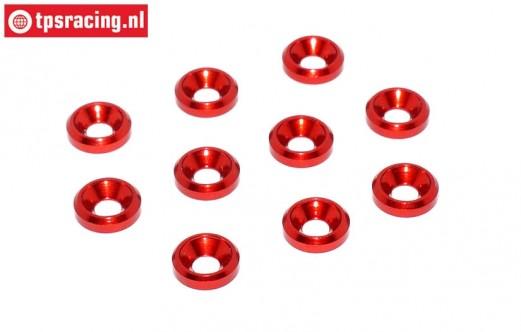 TPS1233/01 Countersunk ring Ø3 mm Red, 10 pcs.