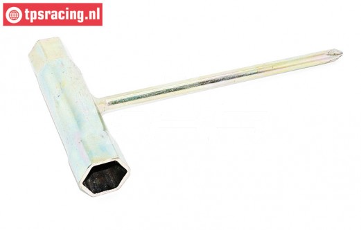 TPS0486 Steel spark plug wrench 13/16 mm, 1 pc.