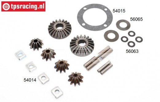 BWS59070 Differential gears Complete, (BWS-5T-MINI), Set.