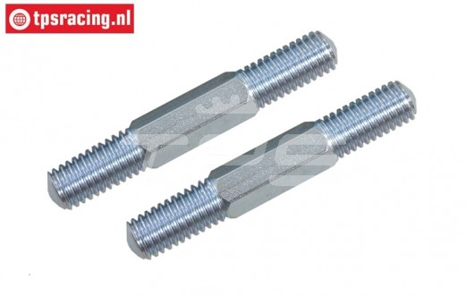 FG6076/01 Steel threaded rod M8-L61 mm, 2 pcs