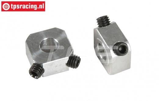 FG6107 Alloy Wheel square, L9,5 mm, 2 pcs