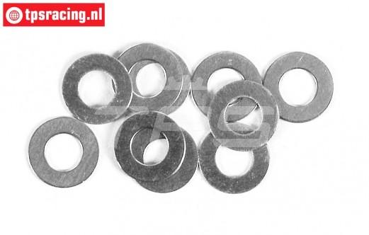 FG6740 Steel Shim washer, Ø6-Ø12-H1,0 mm, 10 pcs.