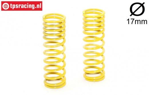 FG7197 Shock spring progressive Yellow Ø2,3-L68 mm, 2 pcs.
