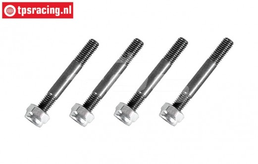 FG8448 Hardened steel stud bolt brake lining, 4 pcs