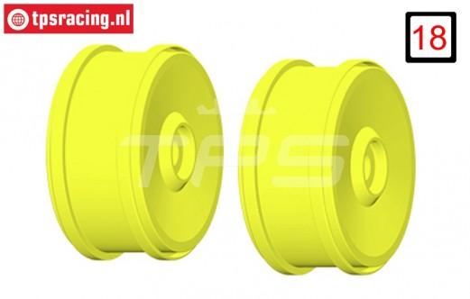 GH99Y 1/6 rim GRP BU-BIG Yellow, 2 pcs.