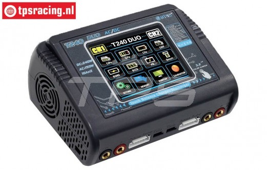 HTRC T240-DUO Touchscreen Charger 12-220 Volt, Set