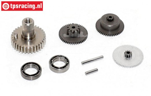 Gears complete, JX-BLSHV7146MG servo, Set