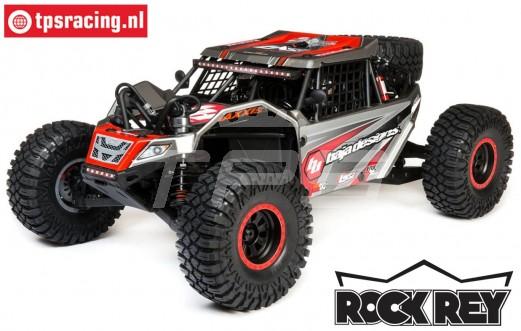 LOS05016T2 1/6 Super Rock Rey 4WD Rock Racer RTR, Baja Designs