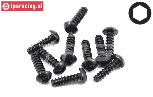 TLR255005 Button Head Screw M4-L8 mm, 10 pcs.