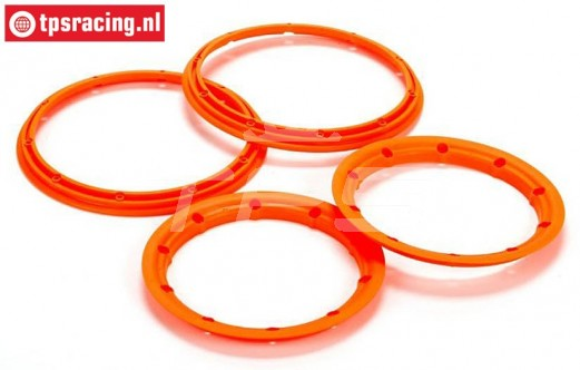 LOS45007 Beadlock Neon-Orange, 4 pcs