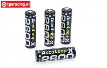 ACCUL2600 AA Battery Acculoop-X 2600 mAh 1,2 Volt, 4 pcs.
