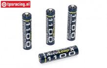 ACCUL1100 Acculoop-X AAA 1100 mAh, 1,2 Volt, 4 pcs.