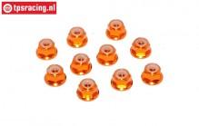 TPS1223/04 Aluminum lock nut M3 Orange, 10 pcs.