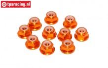 TPS1224/04 Aluminum lock nut M4 Orange, 10 pcs.