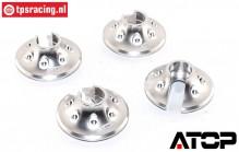 AT-5T018S ATOP Aluminium Spring disk SIlver LOSI-BWS, 2 pcs.