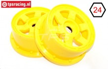 TPS5026/60YE Nylon Rim 6-Spoke Yellow Ø120-W60 mm, 2 pcs.