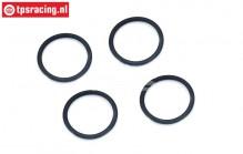 BWS53018/04 O-ring adjustment ring Ø24 mm, 4 pcs