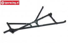 BWS51070 Roll cage part left rear BWS-LOSI, 1 pc