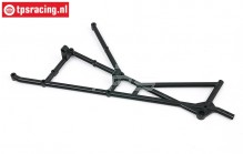 BWS51071 Roll cage part right rear BWS-LOSI, 1 pc