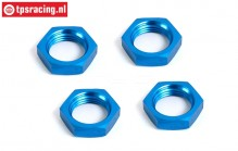 BWS55016B Wheel nut Bleu Ø24 mm, 4 pcs.