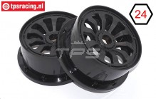 BWS59090 Rims Black 10 Spoke Ø120-B60 mm, 2 pcs.
