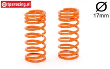 FG10191 Shock spring progressive Orange Ø2,2-L48 mm, 2 pcs.