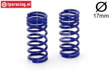FG10194 Shock spring progressive Bleu Ø2,5-L48 mm, 2 pcs.