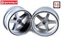 FG3105/02 Rims 1/6 widened Silver Ø120-B60 mm, 2 pcs.