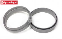 FG3106 1/6 Rim extension ring Silver, 2 pcs