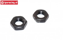 FG4472/03 Steel nut flat M8R-H5 mm, 2 pcs