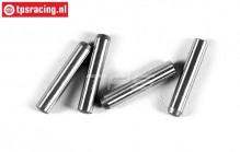FG6106/08 Steel wheel square pins, 4 pcs.