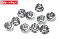 FG6115 Steel locking nut M8R, 10 pcs.