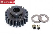 FG6433/21 Steel gear 21T wide Ø10-B12 mm, 1 pc