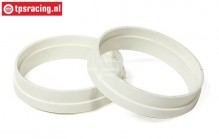 FG6436 1/6 Rim extension ring white, 2 pcs