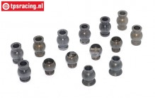 FG6475 Alloy ball joint with coating 1/6, 14 pcs