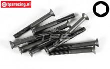 FG6720/40 Countersunk Head Screw M4-L40 mm, 10 pcs