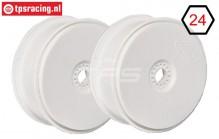 FG67215 1/6 Disk Rim Tire Safe White Ø130-B65 mm, 2 pcs.