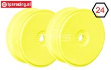 FG67216 1/6 Disk Rim Tire Safe Yellow Ø130-B65 mm, 2 pcs.