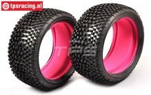 FG67218SI Styx Medium Tyres with foam Ø130-B65, 2 pcs.