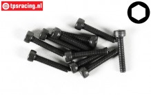FG6724/18 Socket Head Screw M3-L18 mm, 10 pcs