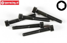 FG6727/45 Socket Head Screw M6-L45 mm, 5 pcs