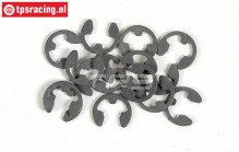 FG6732/06 E-clip spring steel Ø6 mm, 15 pcs