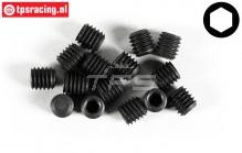 FG6733/06 Scrub Screw M6-L6 mm, 15 pcs