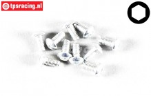 FG6737/06 Button Head Screw M3-L6 mm, 10 pcs