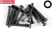FG6737/20 Button Head Screw M3-L20 mm, 10 pcs