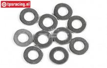 FG6742 Steel shim ring Ø7-Ø13-H0,3 mm, 10 pcs.