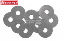 FG6743 Steel Shim washer Ø5-Ø17-H0,1 mm, 10 pcs.
