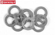 FG6745 Steel Shim Ring Ø10-Ø16-H1,0 mm, 10 pcs.